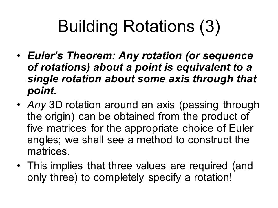 Building Rotations (3)