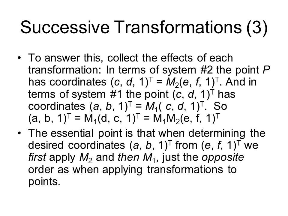 Successive Transformations (3)