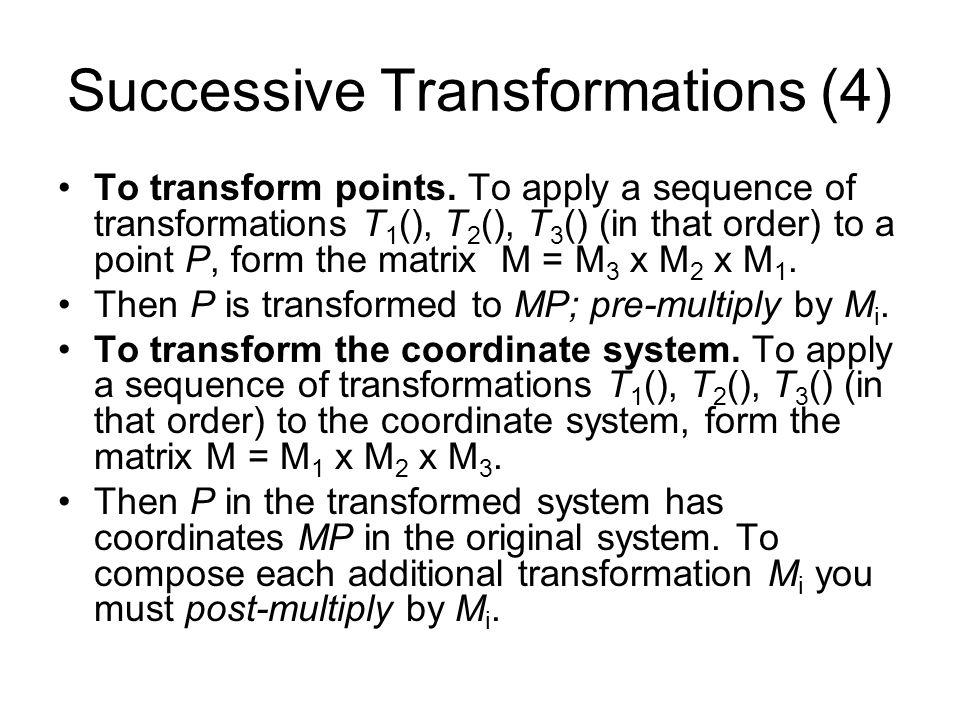 Successive Transformations (4)