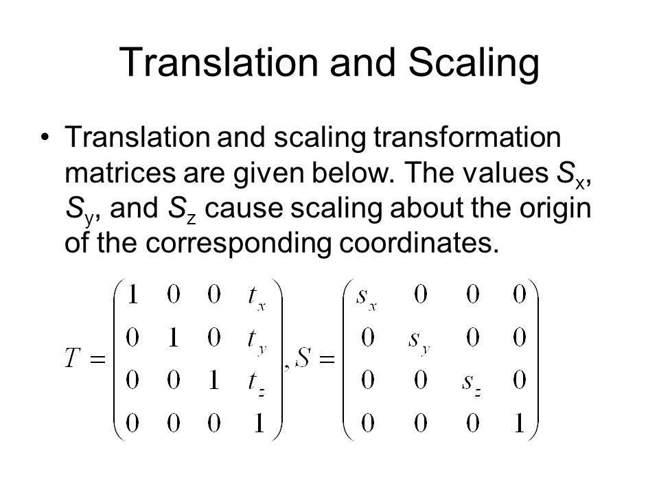 Translation and Scaling