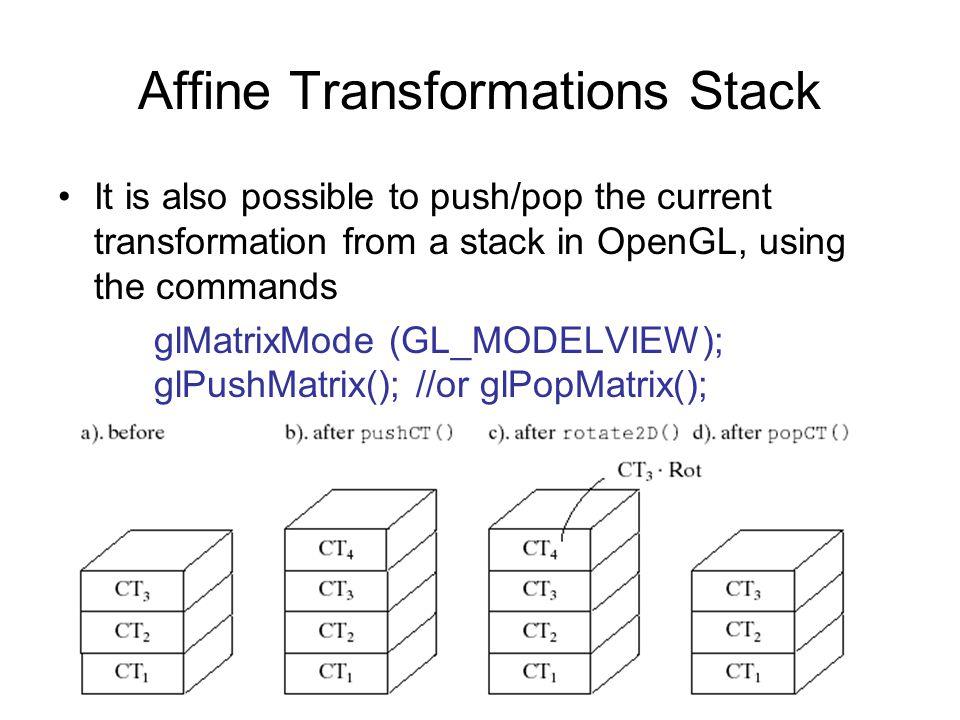 Affine Transformations Stack