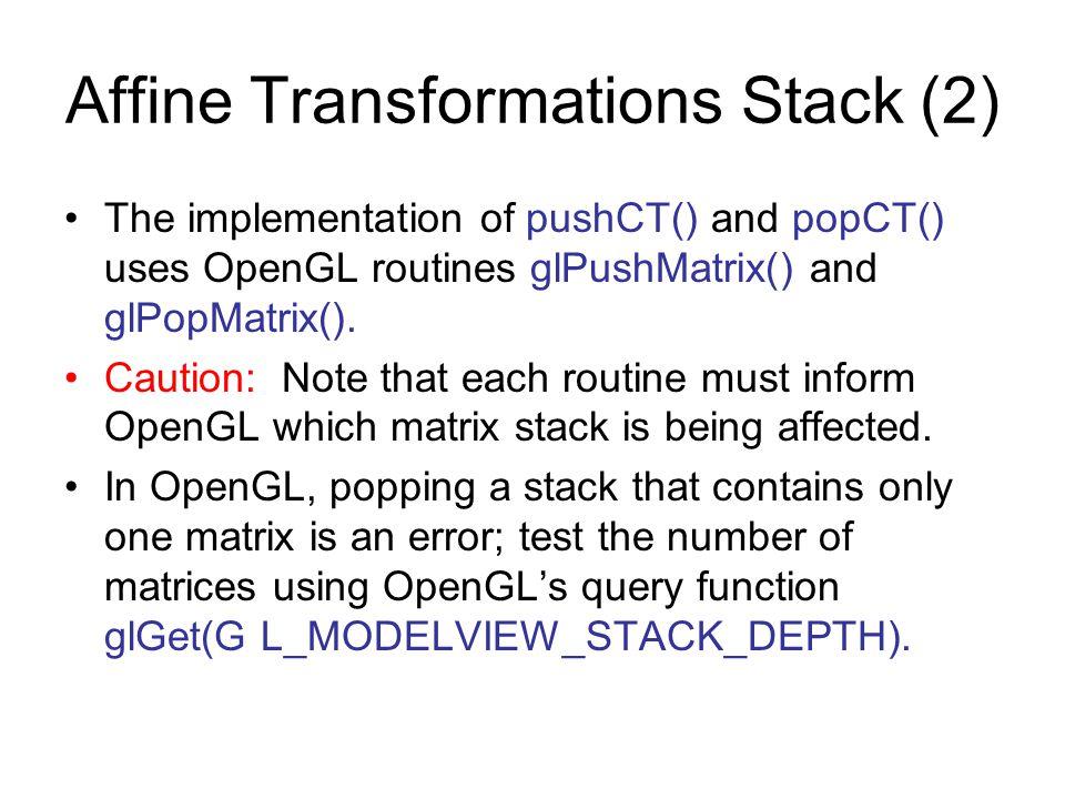 Affine Transformations Stack (2)