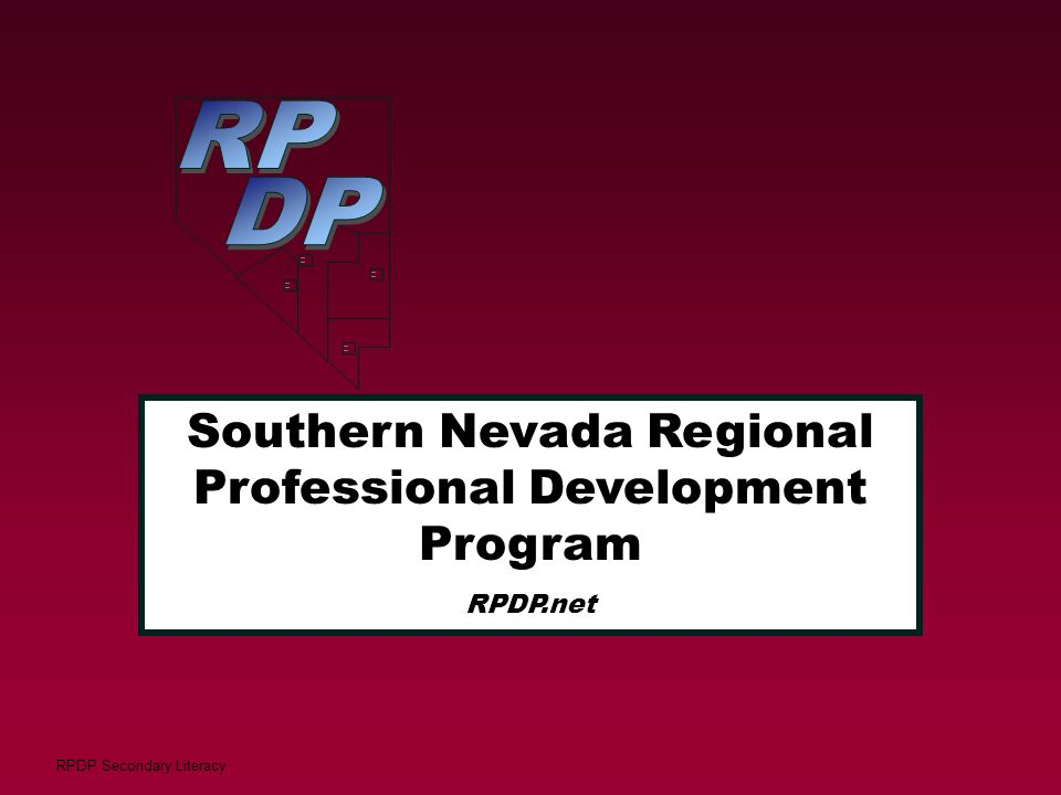 RP DP Southern Nevada Regional Professional Development Program