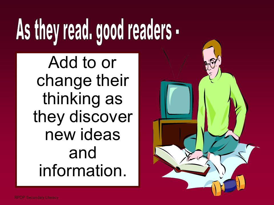 As they read. good readers -