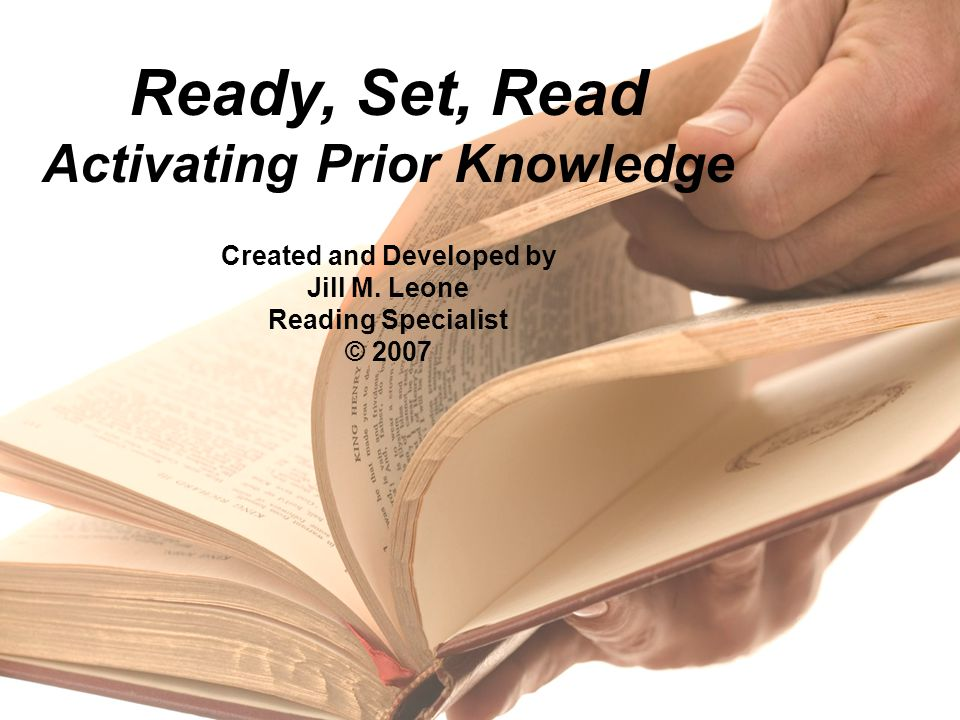 Ready, Set, Read Activating Prior Knowledge