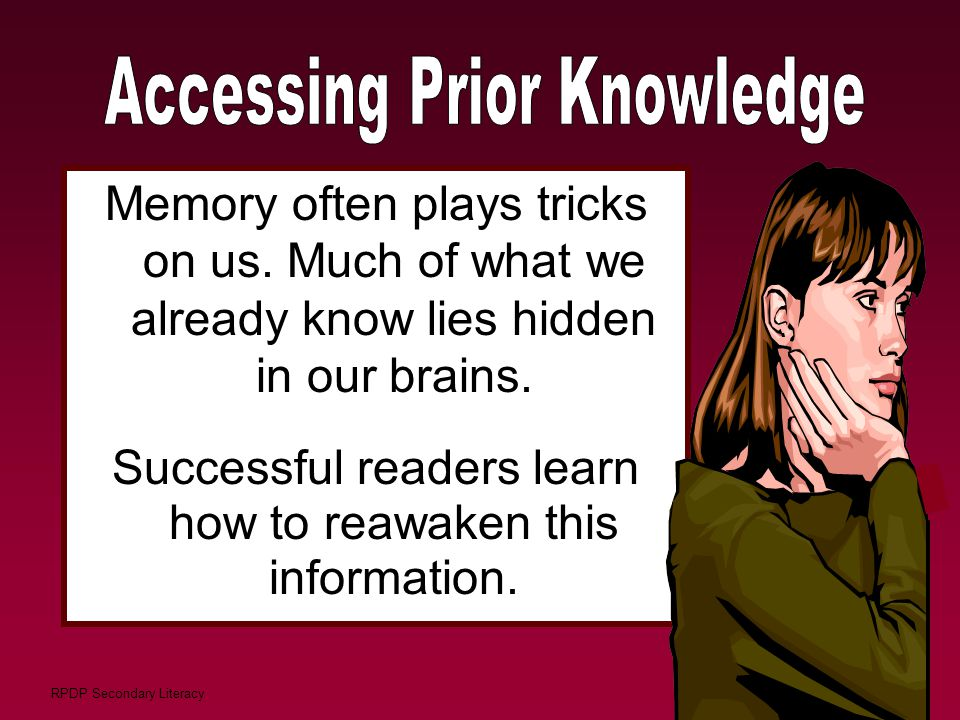 Accessing Prior Knowledge