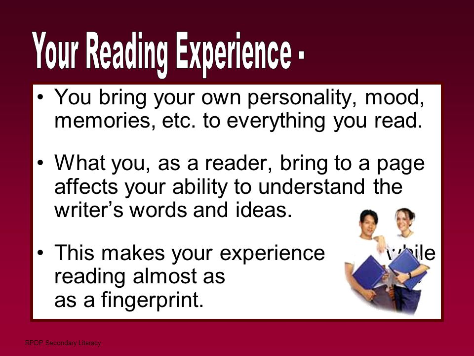 Your Reading Experience -