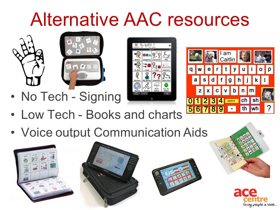 Alternative AAC resources