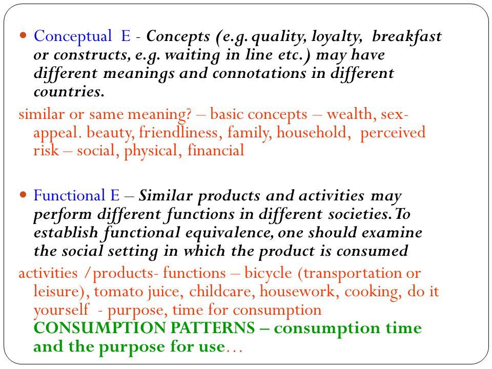 Conceptual E - Concepts (e. g