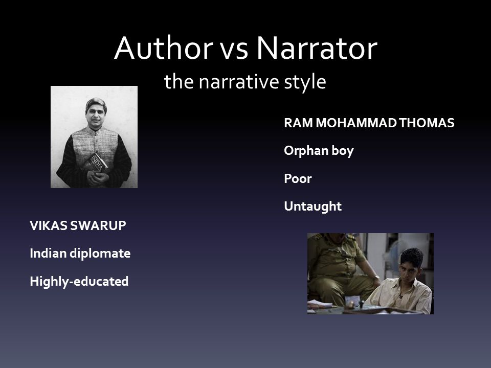 Author vs Narrator the narrative style
