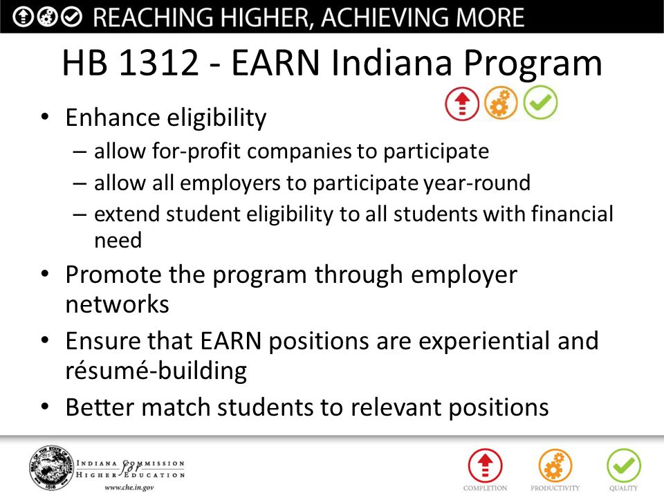HB 1312 - EARN Indiana Program