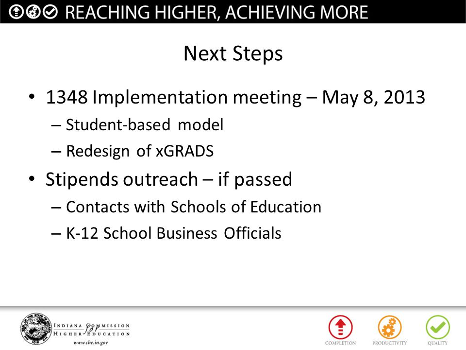 Next Steps 1348 Implementation meeting – May 8, 2013