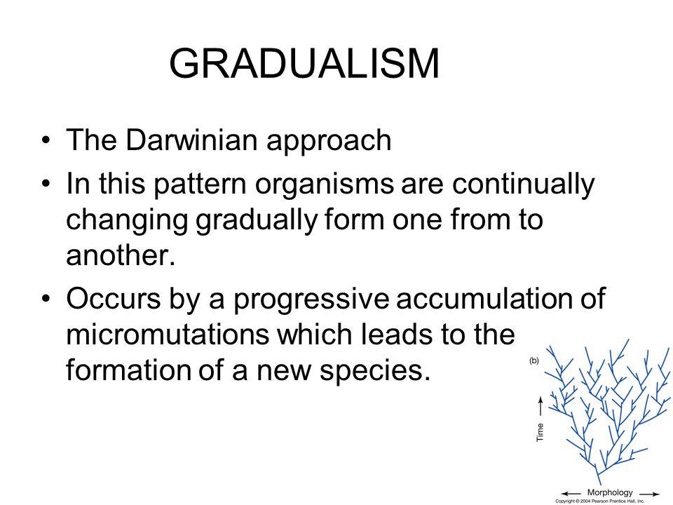 GRADUALISM The Darwinian approach