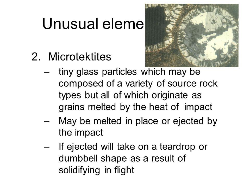 Unusual elements (cont)