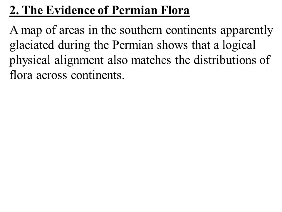 2. The Evidence of Permian Flora