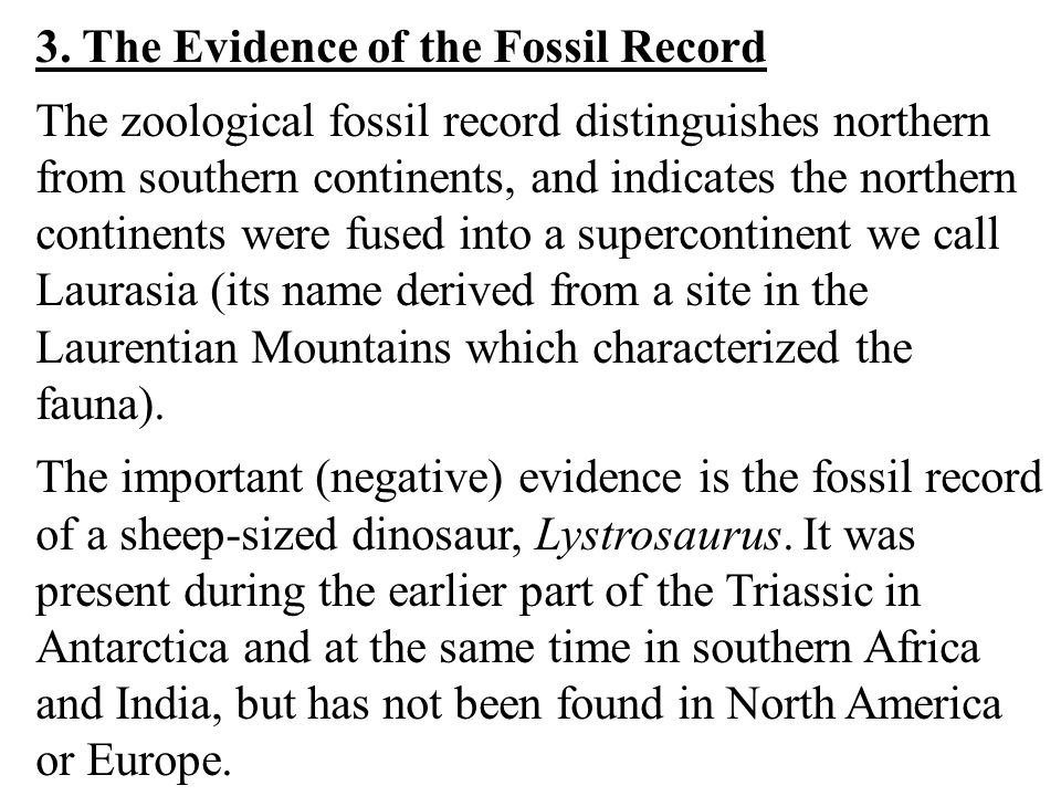 3. The Evidence of the Fossil Record