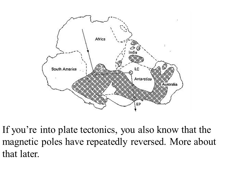 If you're into plate tectonics, you also know that the magnetic poles have repeatedly reversed.
