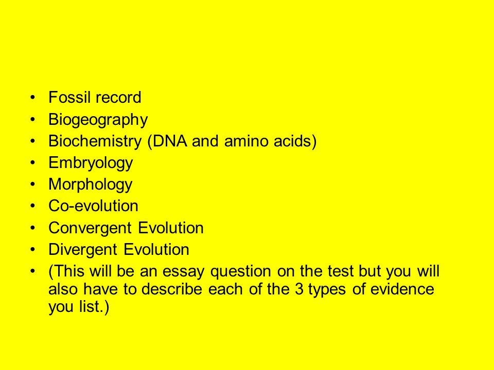 essay evidence evolution Essays in natural history and evolution: the essay in science is an art form as well and north american floras was a key piece of evidence in favor of evolution.