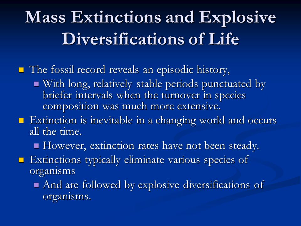 Mass Extinctions and Explosive Diversifications of Life