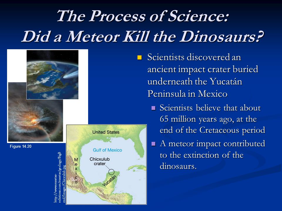 The Process of Science: Did a Meteor Kill the Dinosaurs