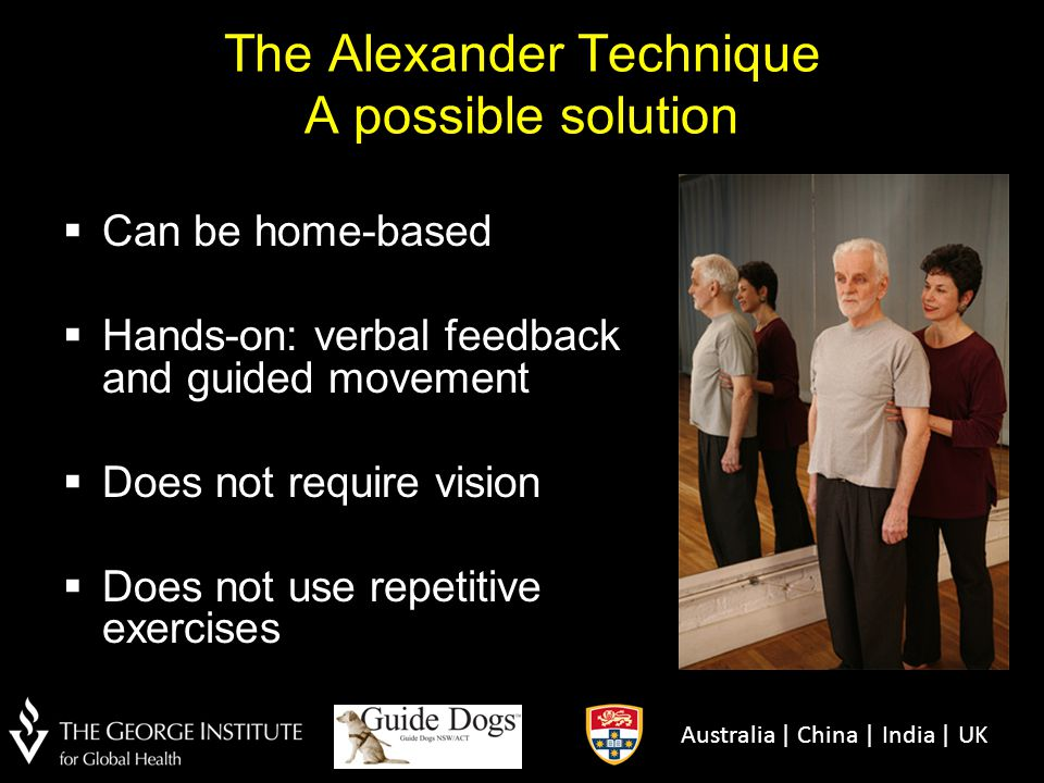 The Alexander Technique A possible solution