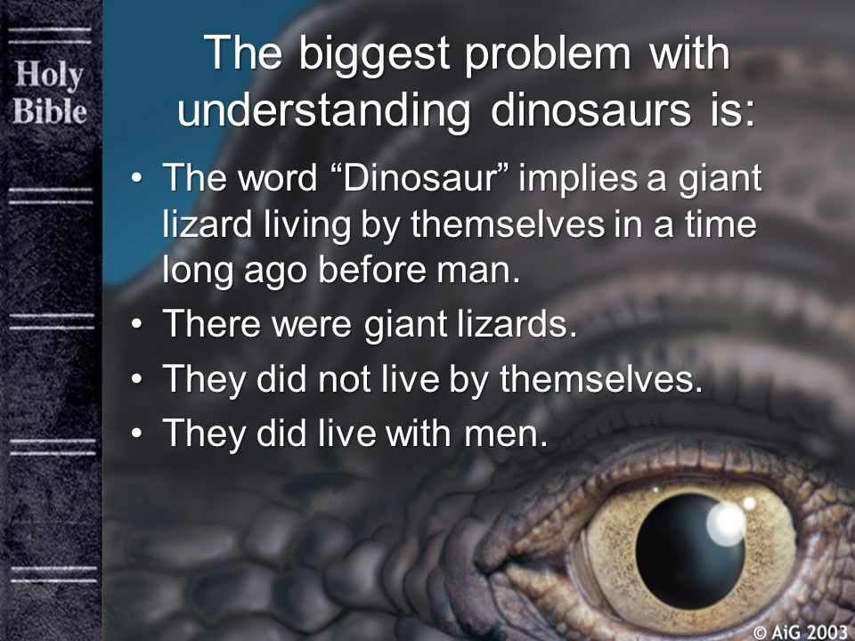 The biggest problem with understanding dinosaurs is: