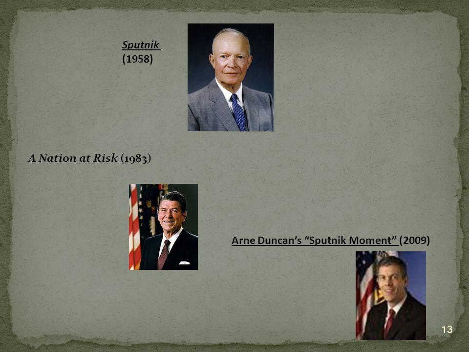 Sputnik (1958) A Nation at Risk (1983) Arne Duncan's Sputnik Moment (2009)