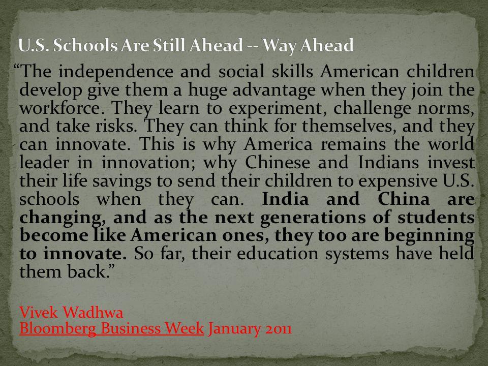 U.S. Schools Are Still Ahead -- Way Ahead