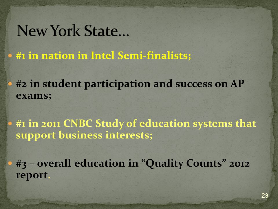 New York State… #1 in nation in Intel Semi-finalists;
