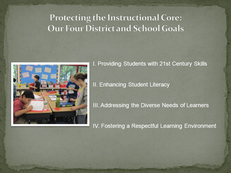 Protecting the Instructional Core: Our Four District and School Goals