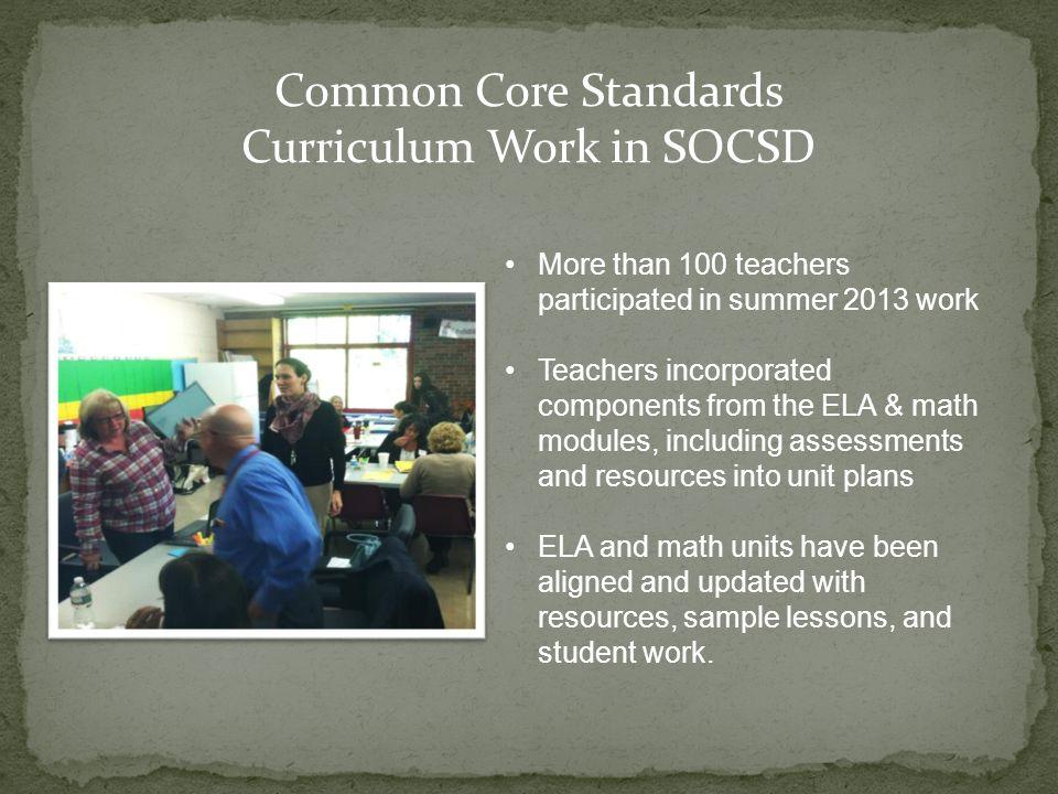Curriculum Work in SOCSD