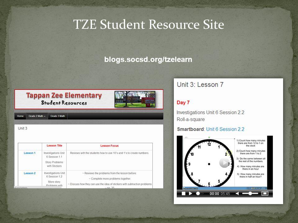 TZE Student Resource Site