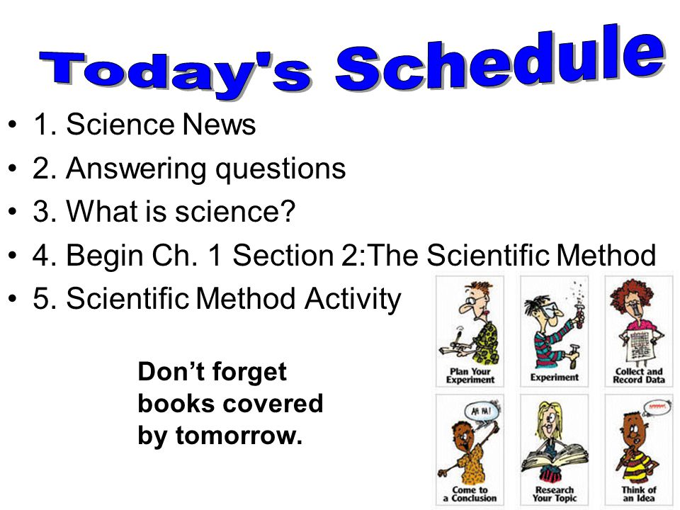 Today s Schedule 1. Science News 2. Answering questions