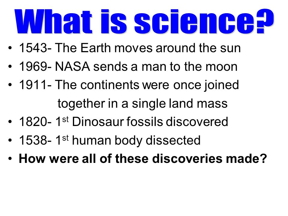 What is science 1543- The Earth moves around the sun