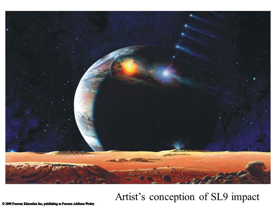 Artist's conception of SL9 impact