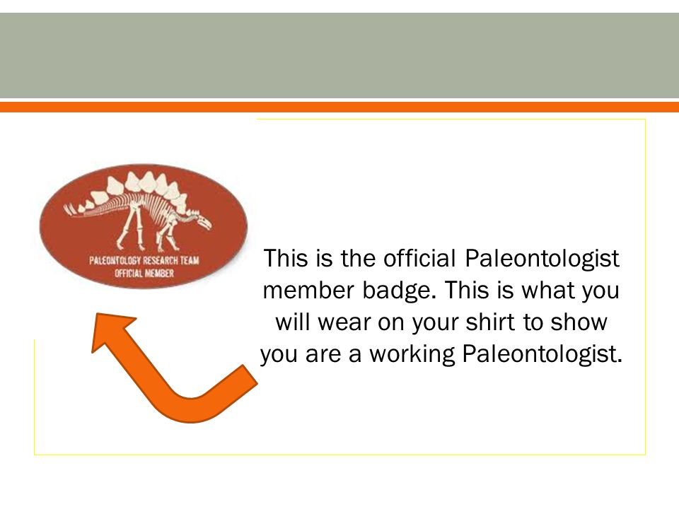 This is the official Paleontologist member badge