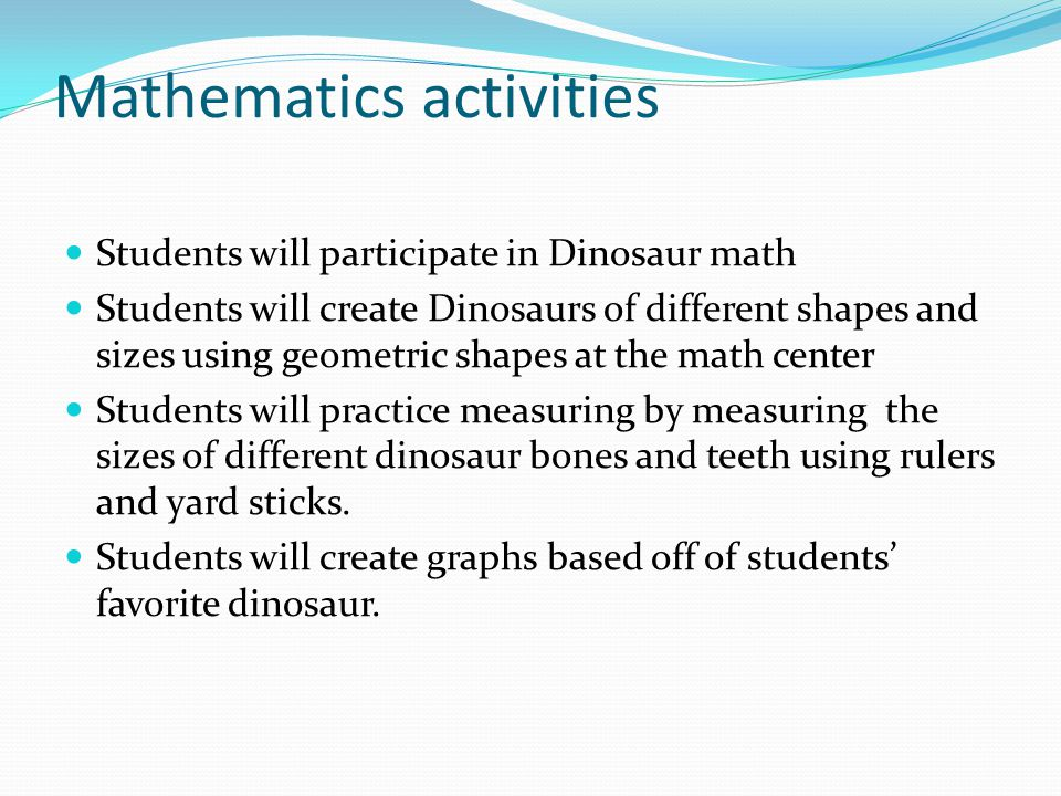 Mathematics activities