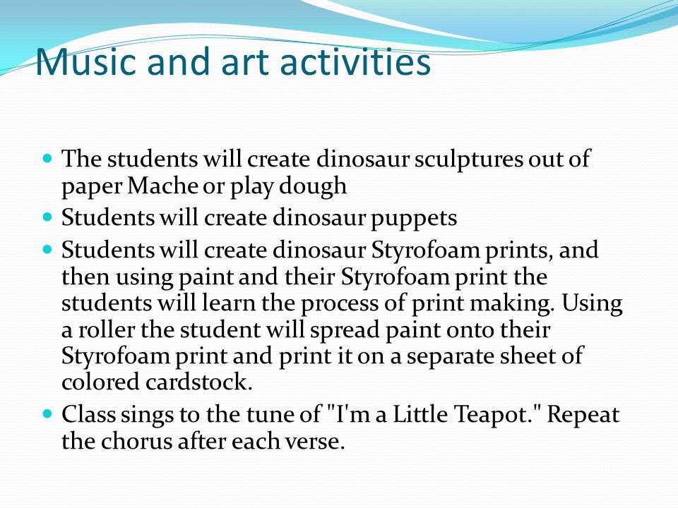 Music and art activities