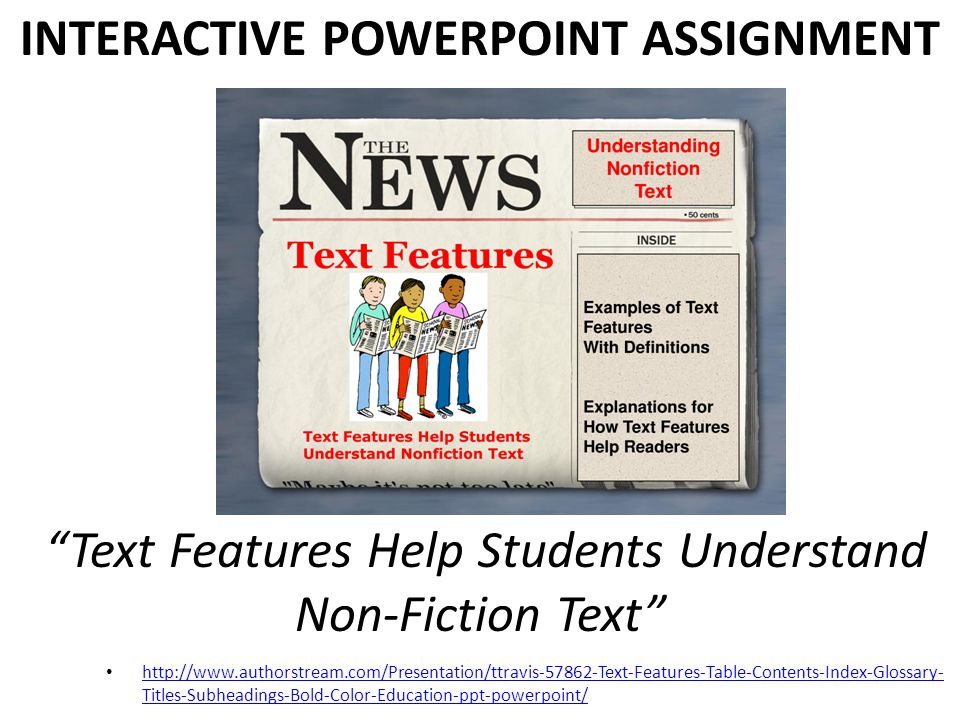 INTERACTIVE POWERPOINT ASSIGNMENT