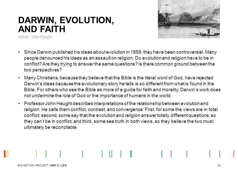 DARWIN, EVOLUTION, AND FAITH