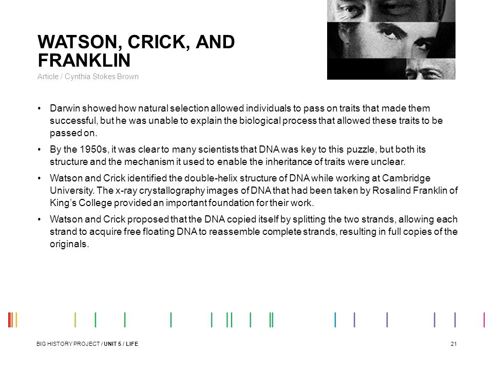 WATSON, CRICK, AND FRANKLIN