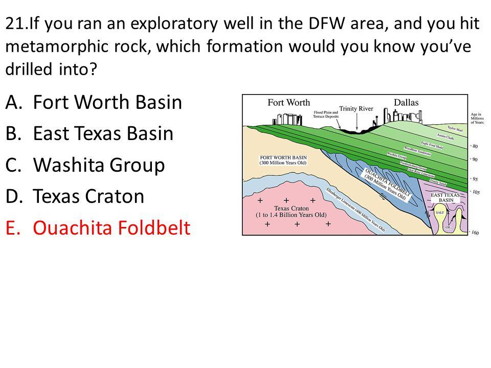 Fort Worth Basin East Texas Basin Washita Group Texas Craton