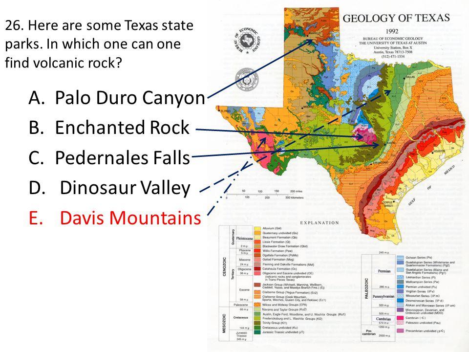 Palo Duro Canyon Enchanted Rock Pedernales Falls Dinosaur Valley