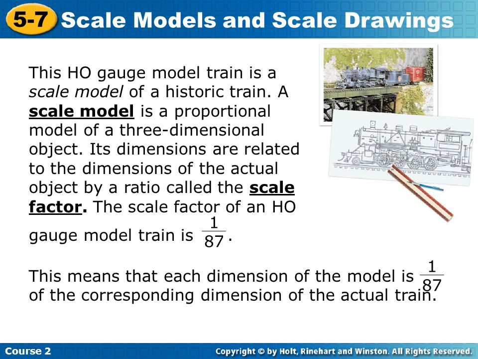 Scale Models and Scale Drawings
