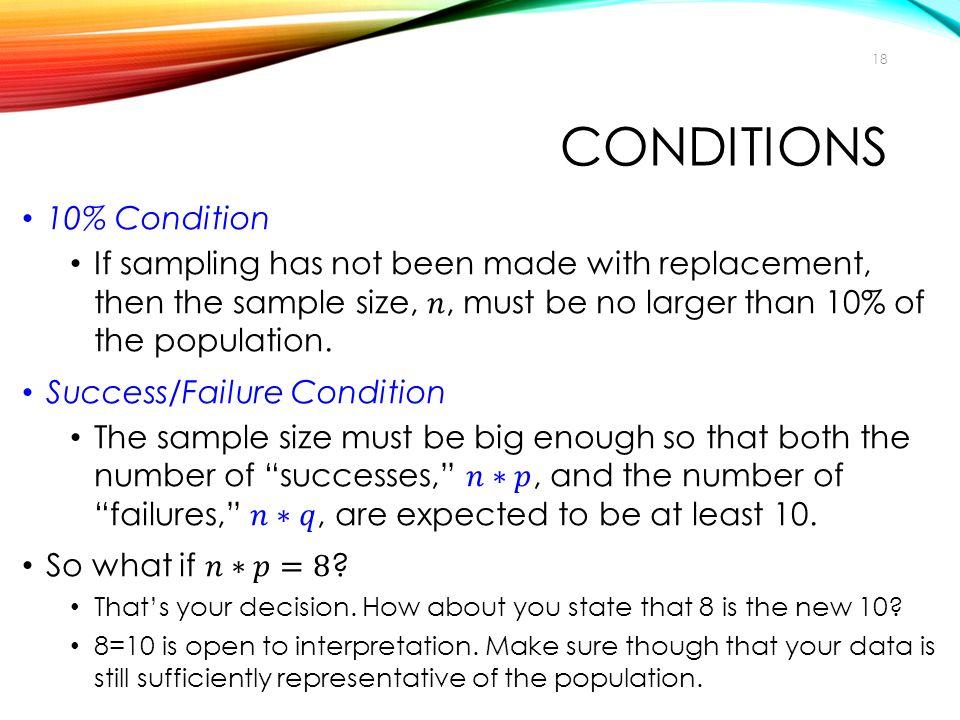 conditions 10% Condition