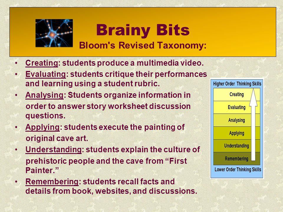 Brainy Bits Bloom s Revised Taxonomy: