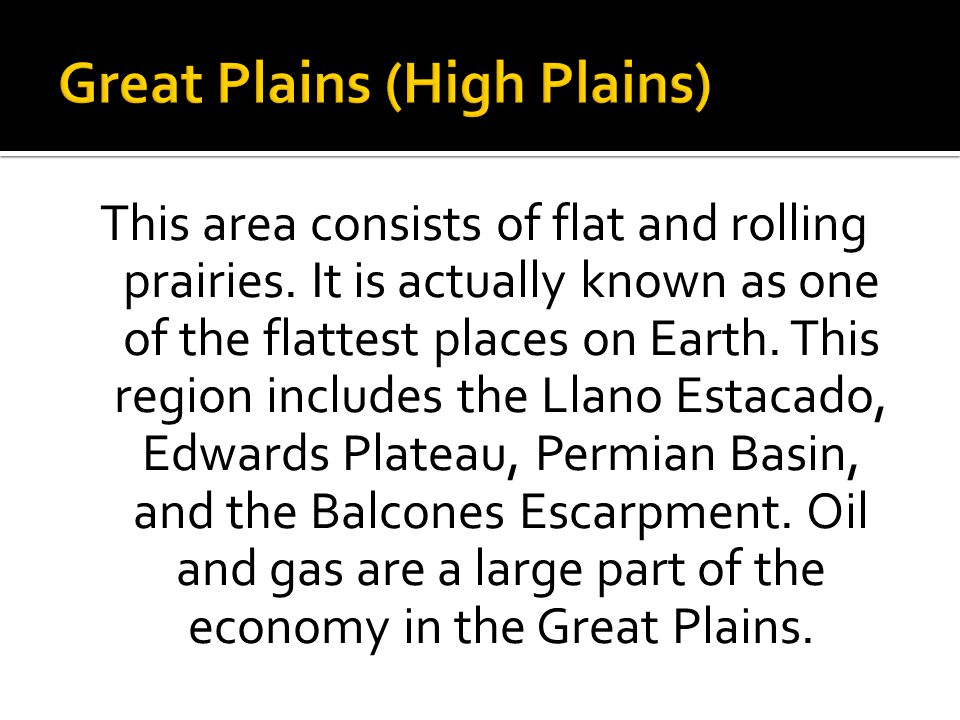 Great Plains (High Plains)
