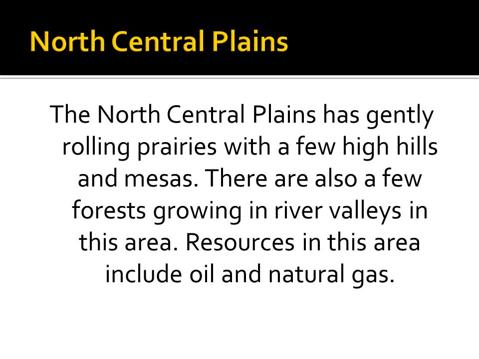 North Central Plains