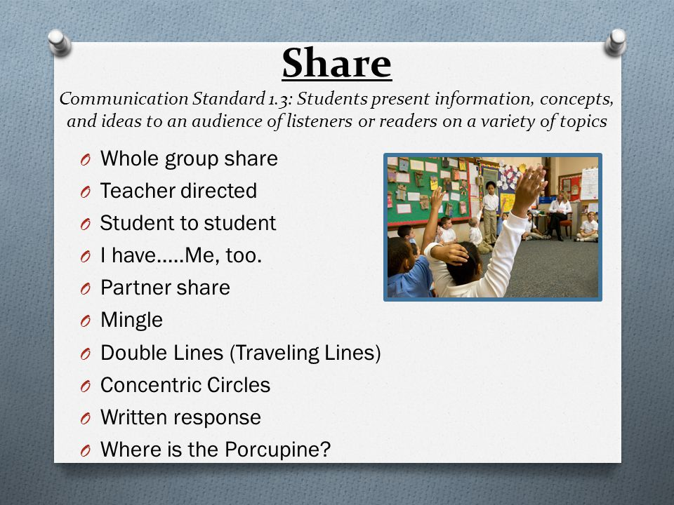 Share Communication Standard 1