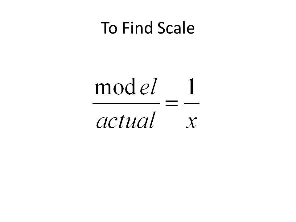 To Find Scale